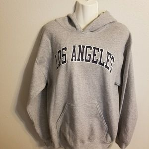 Los Angeles gray pullover hoodie (LL0719)